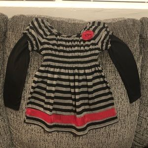 ZUNIE Girls Long Sleeve Striped Dress